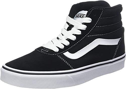 Vans Unisex-Erwachsene Ward Hi Hohe Sneaker, Schwarz ((Suede/Canvas) Black/White C4R), 44.5 EU