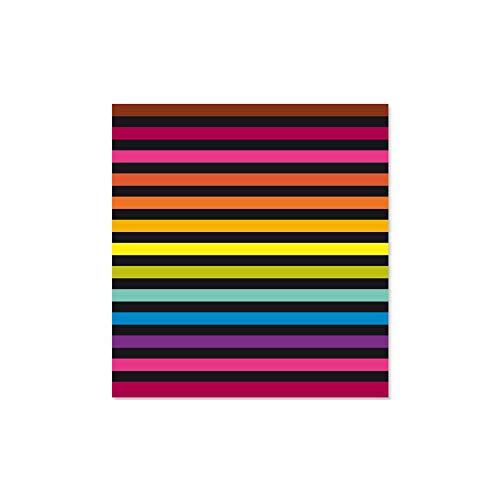 Mlance Rayures - Toalla de playa (150 x 170 cm), diseño de rayas, multicolor