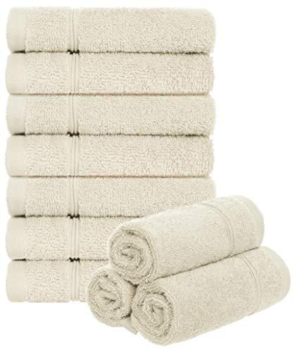 Brandsseller Juego de 10 toallas de baño, 30 x 30 cm, 100% algodón, 470 g/m², 30 x 30 cm, color crudo