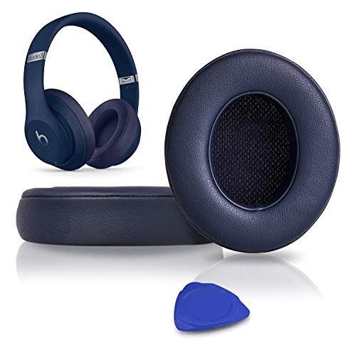 SoloWIT Professional Replacement Ear Pads Cushions, Earpads Compatible with Beats Studio 2.0 & 3 Wired/Wireless OVER-EAR Headphones with Soft Protein Leather, Noise Isolation Memory Foam