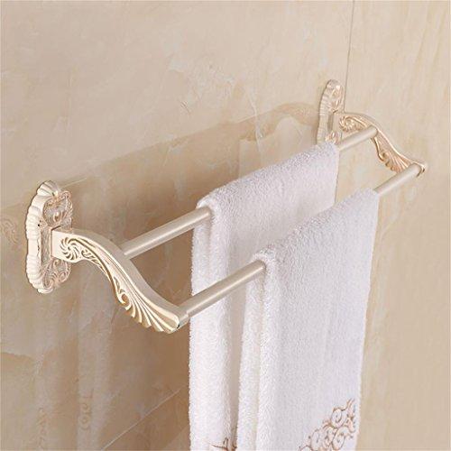 HOHE SHOP/Luxe européenne de haut grade Etagères Bar sculpté serviette d'or Plus Blanc Double de salle de bain mural/étagères de la tour