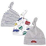 Adorel Baby Mütze Beanie Baumwolle Zipfel 3er-Pack Auto & Fahrzeug & Streifen 3-9 Monate