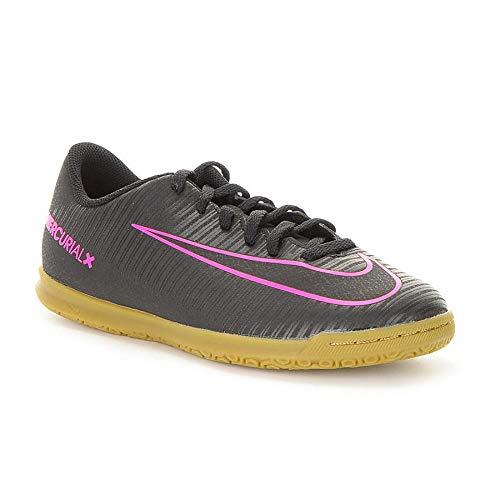 Nike Junior Mercurial Vortex III IC Football Boots 831953 (UK 4.5 us 5Y EU 37.5, Black Pink Blast 006)