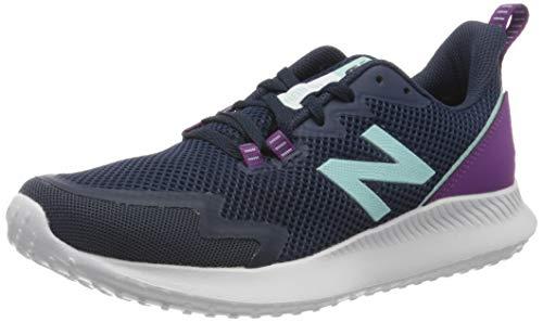 New Balance Women's NB Ryval Run V1 Shoe, Natural Indigo/Plum/Bali Blue, 11 Wide