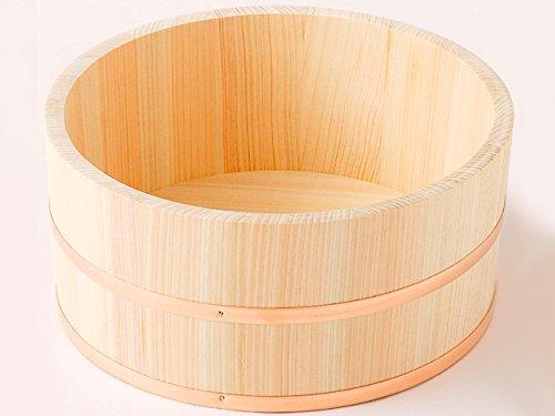 ひのき 湯桶(大)銅タガ ヒノキ風呂桶