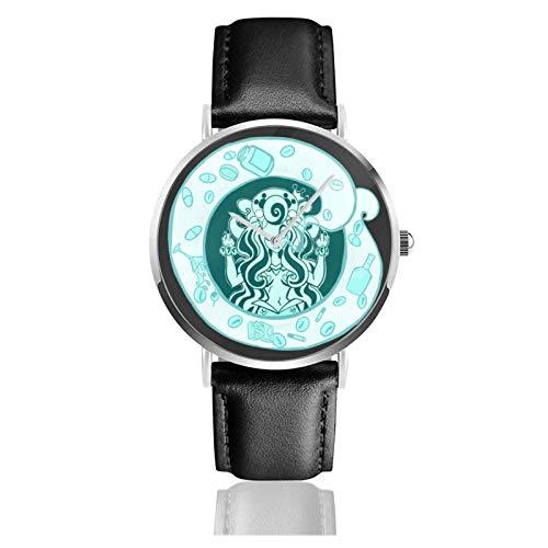 No Dejes Que Las Sirenas vendan café Reloj de Pulsera Temporizador Deportes Adolescentes Estudiantes Reloj de Cuarzo Funciona con Pilas de 38 mm de diámetro
