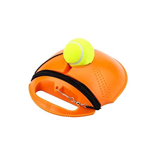 lossomly - Pelota de rebote para entrenamiento de tenis con cuerda para principiantes (amarillo/azul)