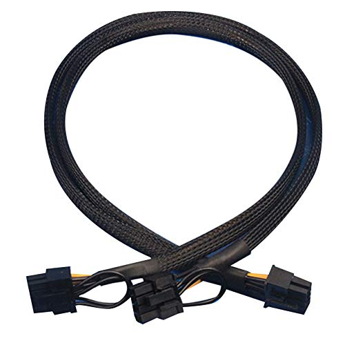 LilyJudy 10 Pin To Dual Pci-E 8 Pin(6+2) Power Supply Cable for Dl580 Dl585 Dl980 G7 Server 23.5-In(60Cm)