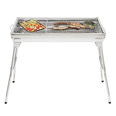 onEveryBaby Portable Folding Charcoal BBQ Grill...