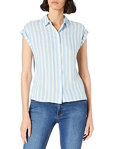 TOM TAILOR Damen 1024063 Striped Bluse, 26018-Blue Offwhite Vertical Stripe, 44
