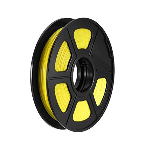 Filamento de impresora 3D PLA, 1,75 mm, bobina de 500 g, precisión dimensional +/- 0,02 mm, recambios de bolígrafo 3D, color amarillo