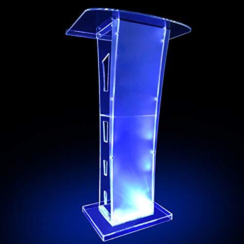 PODIUM Transparentes Glas, Stand-up Mobile Tragbare Acrylpodest-Rednerpulte Multifunktional - Einfache Abdeckung des Publikums Für Meetings Und Seminare