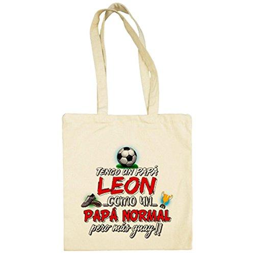 Diver Camisetas Bolsa de tela tengo un papá león del Athletic como...