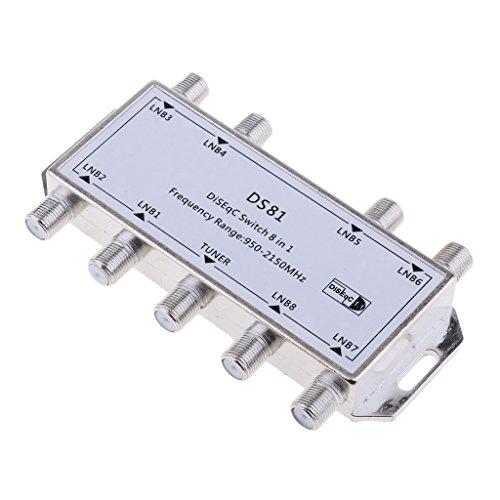 D DOLITY satélite Interruptor MAX 8Multi de Salida de vídeo de Franja Multiconmutador DS81Plata