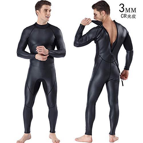 3mm Neoprengamaschen Voll Wetsuit for Schwimmen Tauchen Triathlon Spear Fishing Segelbekleidung Badeanzug Tauchen Männer Gummihosen for Männer Kansa (Color : MY125, Size : M)