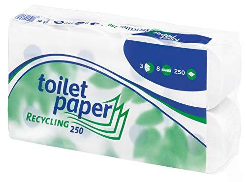 WEPA Toilettenpapier 3-lagig, 8 Rollen 250 Blatt