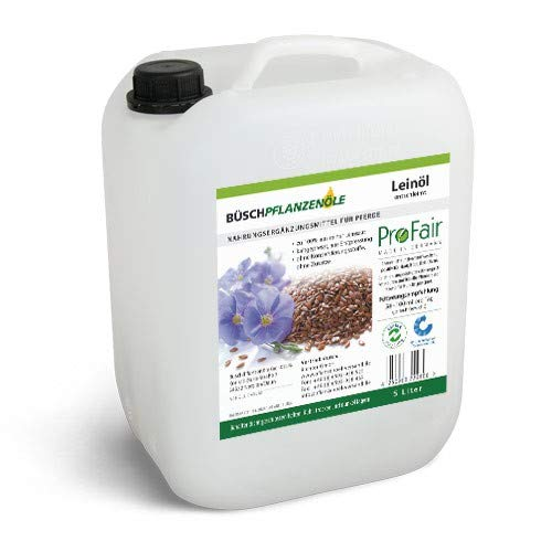 ProFair Lot de 2 bidons d'huile de lin pressée à froid de 5 L, 100 % lin pur, Sans additifs