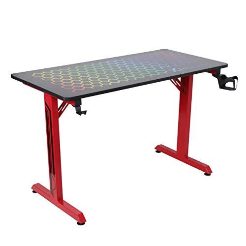 X Rocker, 721601, Hex PC Gaming Desk, 47.24 x 23.62 x 29.13, Black/Red