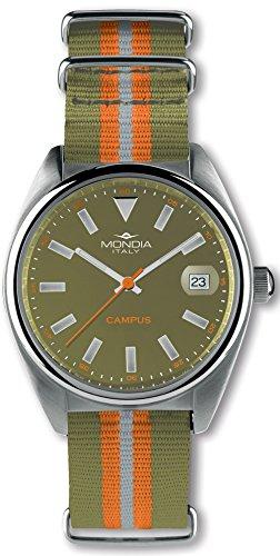 Mondia Campus Herren Uhr analog Japanisches Quarzwerk mit Nylon Armband MI728-3CT