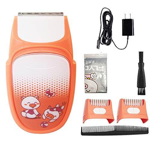 Tondeuse à cheveux WGZ Tondeuse électrique Rechargeable Tondeuse électrique Ménage Tondeuse électrique Tondeuse Professionnelle Cheveux Artifact Pratique (Color : Orange)
