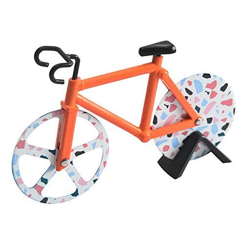 Cortador De Pizza, Cortador De Pastel De Rodillo De Acero Inoxidable, Forma De Bicicleta, Rueda De Pizza De Acero Inoxidable De Grado Alimenticio, Hoja Afilada, Artículos Para Fiestas,A