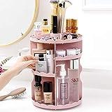JIANGAA Make-up-Organizer, 360 Grad drehbaren Make-up-Halter, große Kapazitäts-Make up Caddy Regal Kosmetik Organizer Box (Color : Pink)