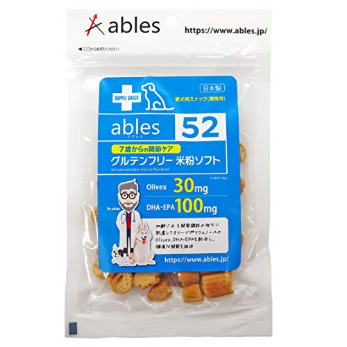 ables(アブレス) 犬用おやつ 7歳からの関節ケア グルテンフリー米粉ソフト 30g