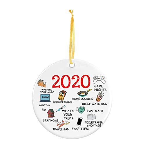 HINK 2020 Decoración Interior del hogar Decoración de árbol Personalizada Regalo Colgante, Decoración del...