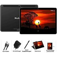 MEBERRY Tablet 10 Pulgadas Android 9 Pie Ultrar-Rápido Tablets 4GB RAM + 64GB ROM - Certificación Google GSM - 4G Dual SIM - 8000mAh |WI-FI|Bluetooth|GPS| Type-C Tablet (5.0+8.0 MP Cámara) - Negro