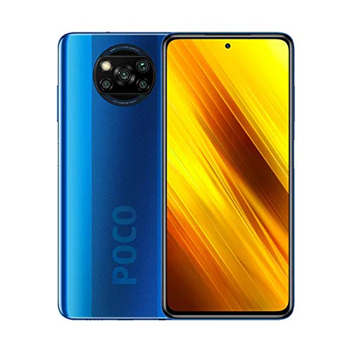 "Xiaomi Poco X3 Teléfono 6GB RAM + 64GB ROM, 6.67"" LCD Dot Display, Snapdragon 732G Octa-Core Procesado, 20MP Frontal y 64MP+13MP+2MP+2MP AI Quad Rear Camera Versión Global (Azul)"