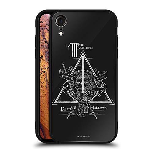 Head Case Designs Licenciado Oficialmente Harry Potter Símbolo triángulo Reliquias de la Muerte XIV Estuche de Cristal Híbrido Compatible con Apple iPhone XR