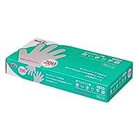 【ポリエチレン製】ケアハート 半透明 使いきり 手袋 Mサイズ 200枚入×20個入(4,000枚)