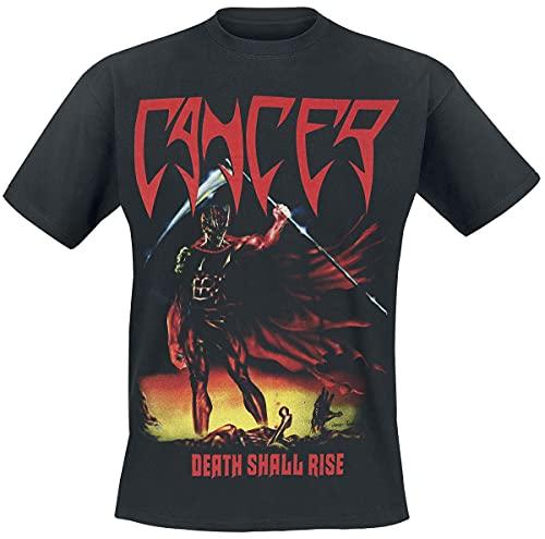 Cancer Death Shall Rise Uomo T-Shirt Nero L 100% Cotone Regular