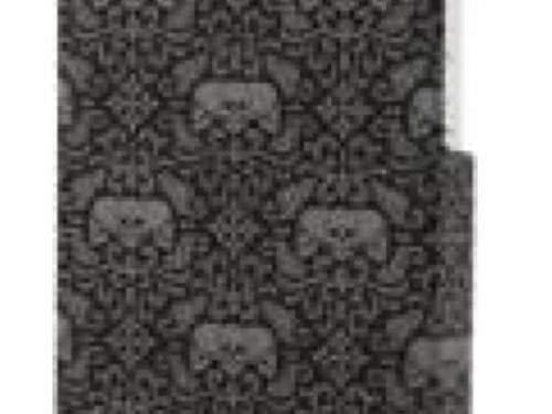 GUPi Carcasa rígida para iPhone 5, iPhone 5S, iPhone 5SE, diseño de calavera gris