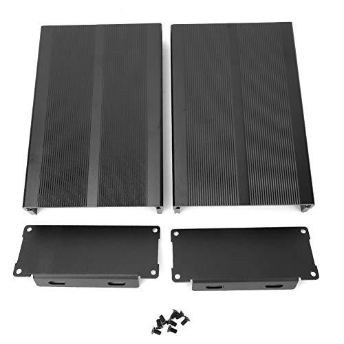 Weikeya Caja de aleación de aluminio, caja de aluminio negra, carcasa de análisis de alta fidelidad electrónica de aleación de aluminio.