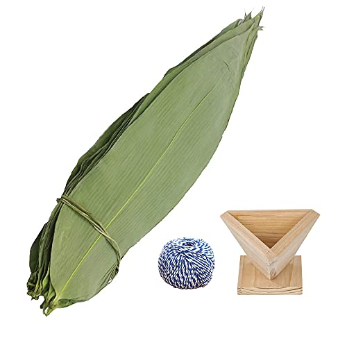 Hoja de bambú seca envuelta en hojas Zongzi para albóndigas de arroz pegajoso Zongzi hojas de bambú secas (200 unidades)