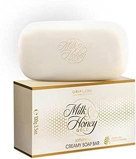 Oriflame Sweden Milk & Honey Gold softening creamy Soap Bar(pack of 4) 400g (400 g)