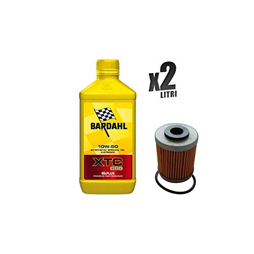 Kit Tagliando moto 2 litri olio Bardahl XTC C60 10W50 + filtro HF157