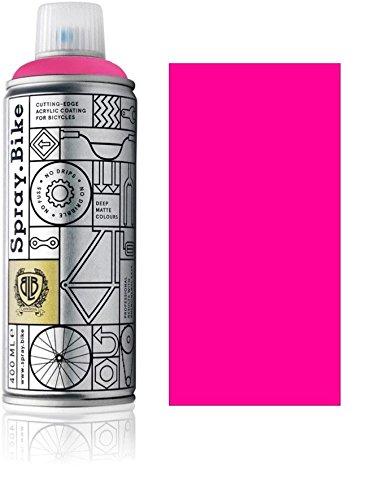 Fahrrad Lackspray in NEON Farben - KEINE GRUNDIERUNG notwendig - Acryllack / Lack Spray in 400 ml Spraydose, Matt- und Klarlack Optik...