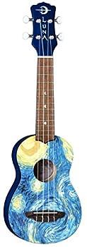 Luna Guitars Starry Night 4-String Soprano Ukulele with Gigbag  UKE STR S