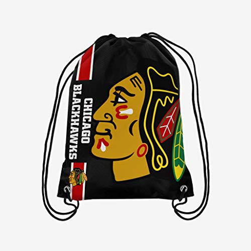 FOCO NHL Big Logo Kordelzug Rucksack, Chicago Blackhawks