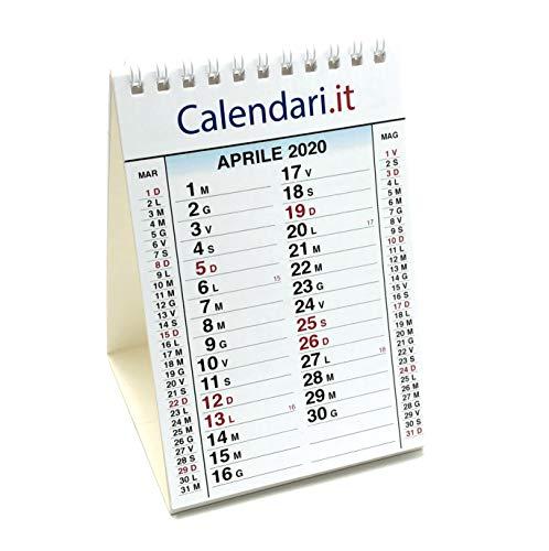 Calendario da tavolo 2020 misura 10X15 cm 14 FOGLI festività italiane. Ideale per piccoli appunti sulla scrivania in ufficio casa e lavoro