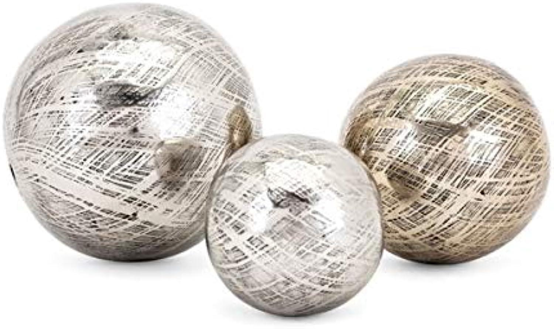 Imax 60457-3 Aluminum Orbs Silver