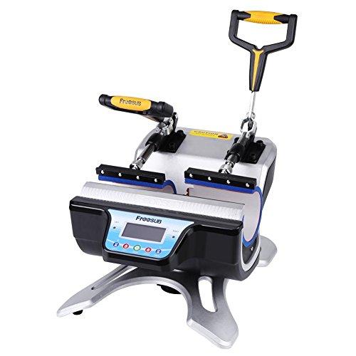 GOTOTOP Pressa di Calore per Sublimazione Trasferimento Press Heat Machine per Tazze per 2 Tazze,Timer Digitale LCD Scivoli Via Design Rigido Telaio in Acciaio Multifunzioni 2 in 1