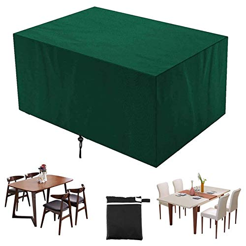 GAOANMO Garden Furniture Covers, Furniture Cover, Garden Table Cover Rectangular Heavy Duty Oxford Waterproof Windproof Anti-Uv Garden Table Covers for Sofas and Chairs