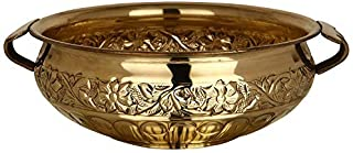 Hashcart (10.25 inch) Traditional Decorative Brass Urli for Home & Office Decoration