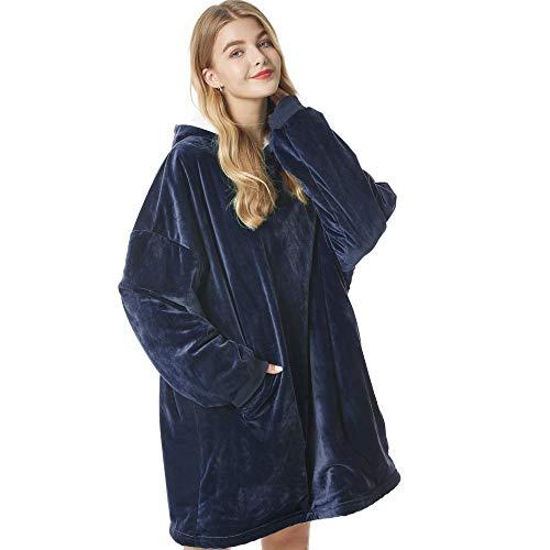 Felicigeely Blanket Sweatshirt,Oversized Fleecehug Hoodie Wearable Blanket,Soft Warm Comfortable Giant Front Pocket for Adults Men Women Teens Friends
