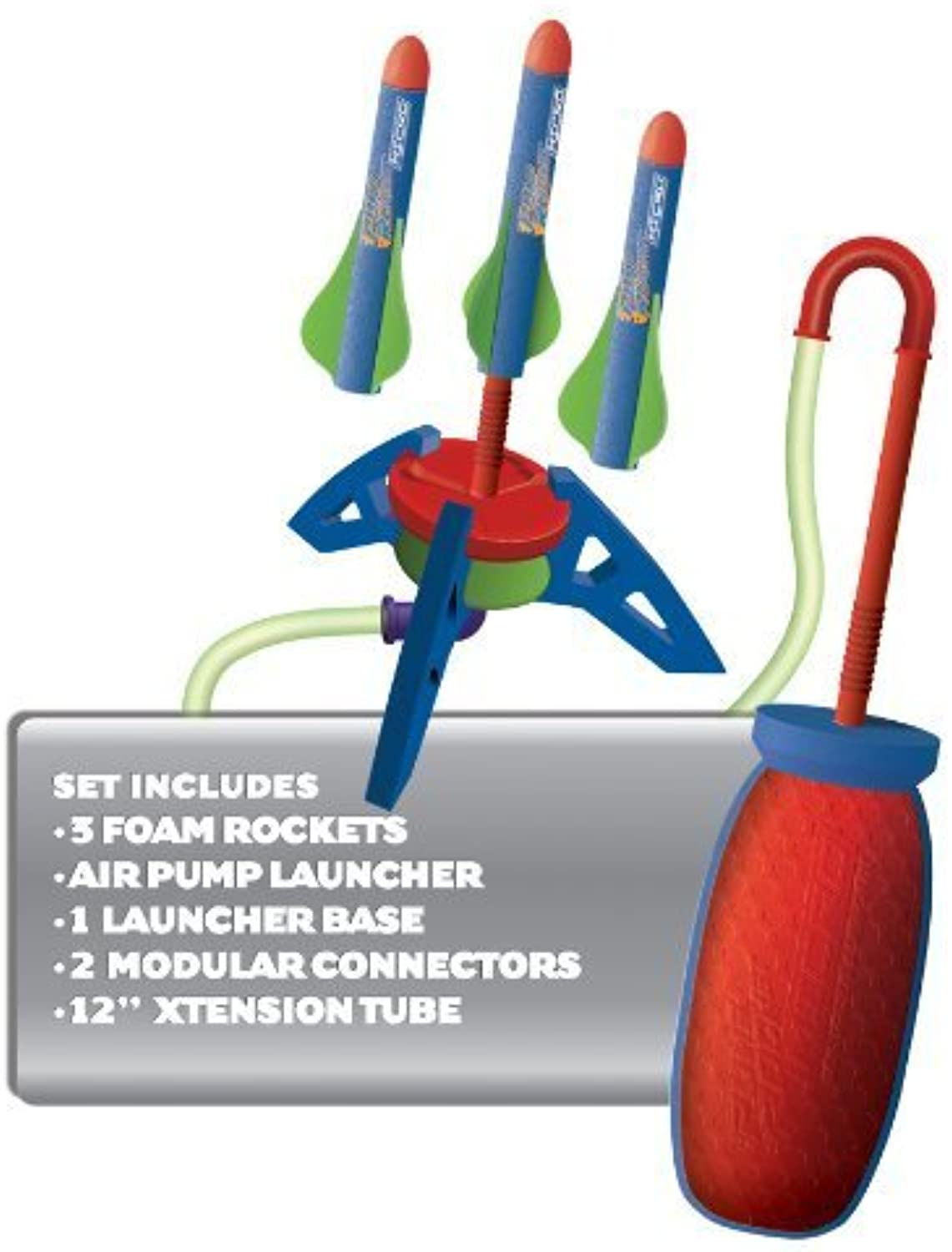 Pump Rocket Micro Slam Station Set  Complete AirPowered Launch Site, with 3 Micro Foam Rockets by GeoSpace