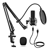 TONOR Microphone à Condensateur USB Enregistrement pour Ordinateur de Bureau et Ordinateur Portable MAC Windows Microphone Cardioïde pour Enregistrement Studio Conversation YouTube Voix-off