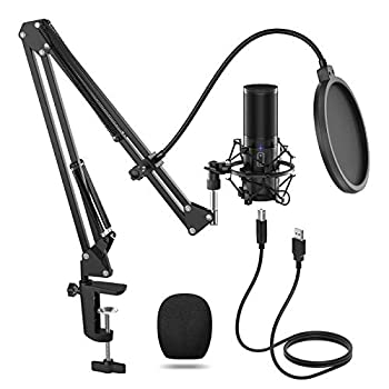 TONOR USB Microphone Kit Streaming Podcast PC Condenser Computer Mic for Gaming YouTube Video Recording Music Voice Over Studio Mic Bundle with Adjustment Arm Stand Q9  Q9